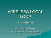 WIRELESS LOCAL LOOP001