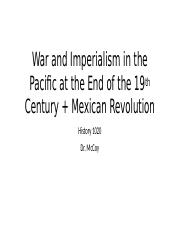 War and Imperialism in the Pacific and Mexican Revolution.pptx