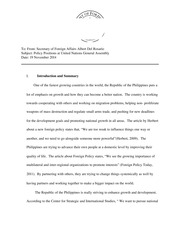 Department of Foreign Affairs Paper