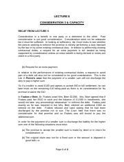 Lecture 6 - Consideration 2 and Capacity