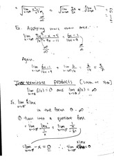 Notes on limits calculus