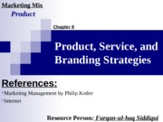 8.Product, Service, and Branding Strategies (13-15 E)