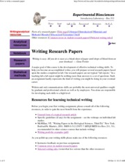 How to write a research paper - SM