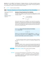 4-1 Systems of Linear Equations in Two Variables
