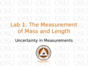 Lab 1 The Measurement of Mass and Length