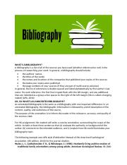 What is a Bibliography  - Copy