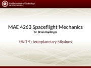 Lecture - Interplanetary Missions