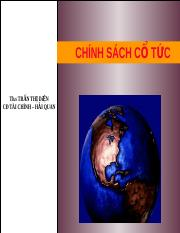 Chuong 1 - Chinh sach co tuc.ppt