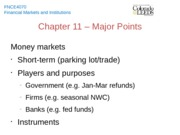 Chapter 11 - Major Points