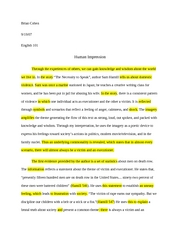 Essay #1 Textual Analysis