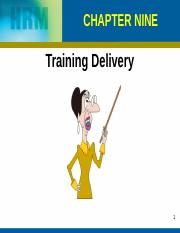 Chapter 9,10 Training Delivery Training Transfer (1)