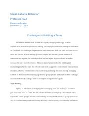 Challenges in Building a Team.docx