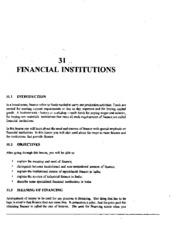 L-31 FINANCIAL INSTITUTIONS