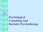 Psychological Basis of Psychotherapy