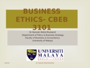 TOPIC 2; ETHICAL THEORIES