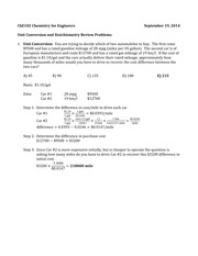 Unit Conversion and Stoichiometry Review Solutions