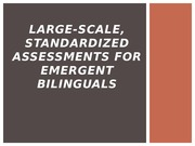 Large Scale Assessment for Emergent Bilinguals Powerpoint