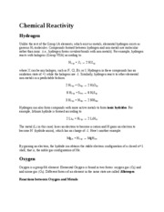 Lecture Note - Chemical Reactivity