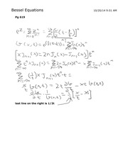 Bessel Equations and Fourier Series Math 422
