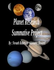 Planet Research  Summative Project