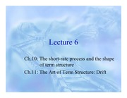 06. The short-rate process and the shape of term structure, The Art of Term Structure - Drift