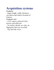 Acquisition system1