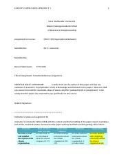 GroupConsultingProject15 SAMPLE - Company Process Oultine Assignment