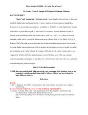 SAMPLE APA Paper - Jessica Crowell Paper Excerpt