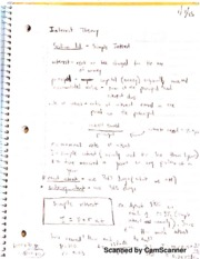 Interest Theory Full Notes
