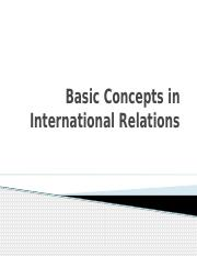 Basic Concepts in International Relations