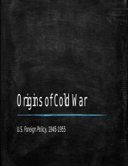 Origins of Cold War