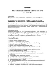Lesson07PrinciplesOfEffectiveTraining&Learning