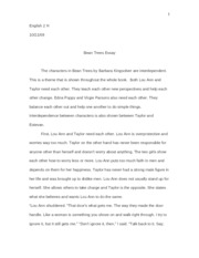 Bean Trees Essay