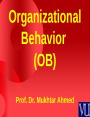 Organizational Behaviour - MGT502 Power Point Slides Lecture 1.ppt