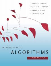 Introductioin to Algorithms