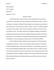 research project paper 1 (American NFL)