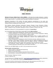 Buyer Whirlpool PoliBa
