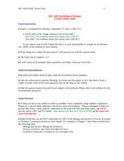 BSC1020_Fall2014_EXAM 1 Study Guide