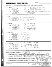 Printables Physical Science If8767 Worksheet Answers composition key percentage nome nome