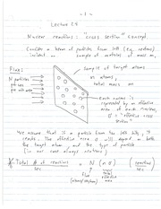 CHE 141 Nucleus Reaction Cross Section Notes