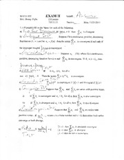 152 Exam II answers FA 11
