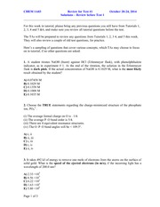 Test 1 Review Questions (MCQ)