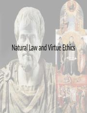 Natural Law and Virtue Ethics