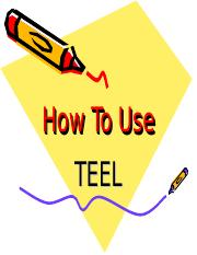 How To Use TEEL (1).ppt