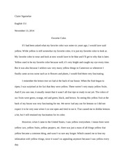 Essay Free write example
