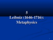 4 Leibniz Metaphysics