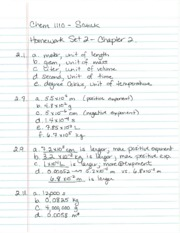 Chapter 2 Homework Set Key