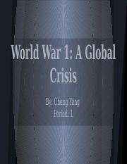 WWI Photo Journal- Cheng Yang