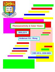08_ Photosensitivity  Color Vision-2016