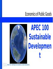 Lecture 5 - Economics of Public Goods